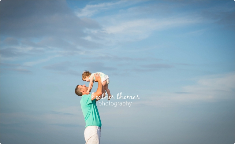 portrait of dad and toddler