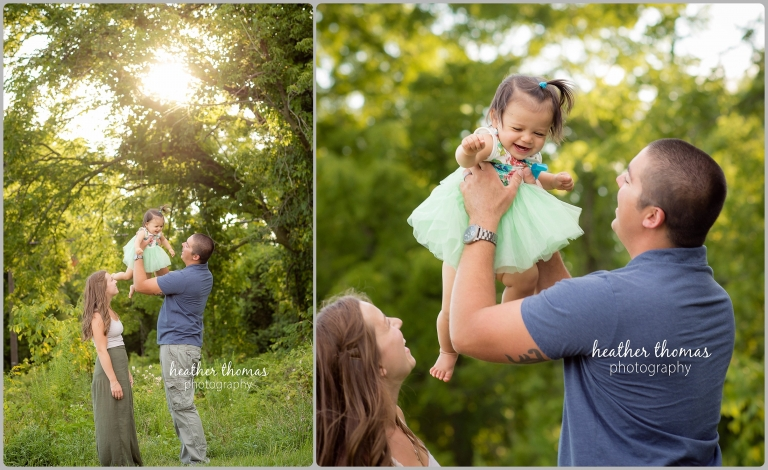 family in Bensalem playing in a flower field photos by Heather Thomas Photography