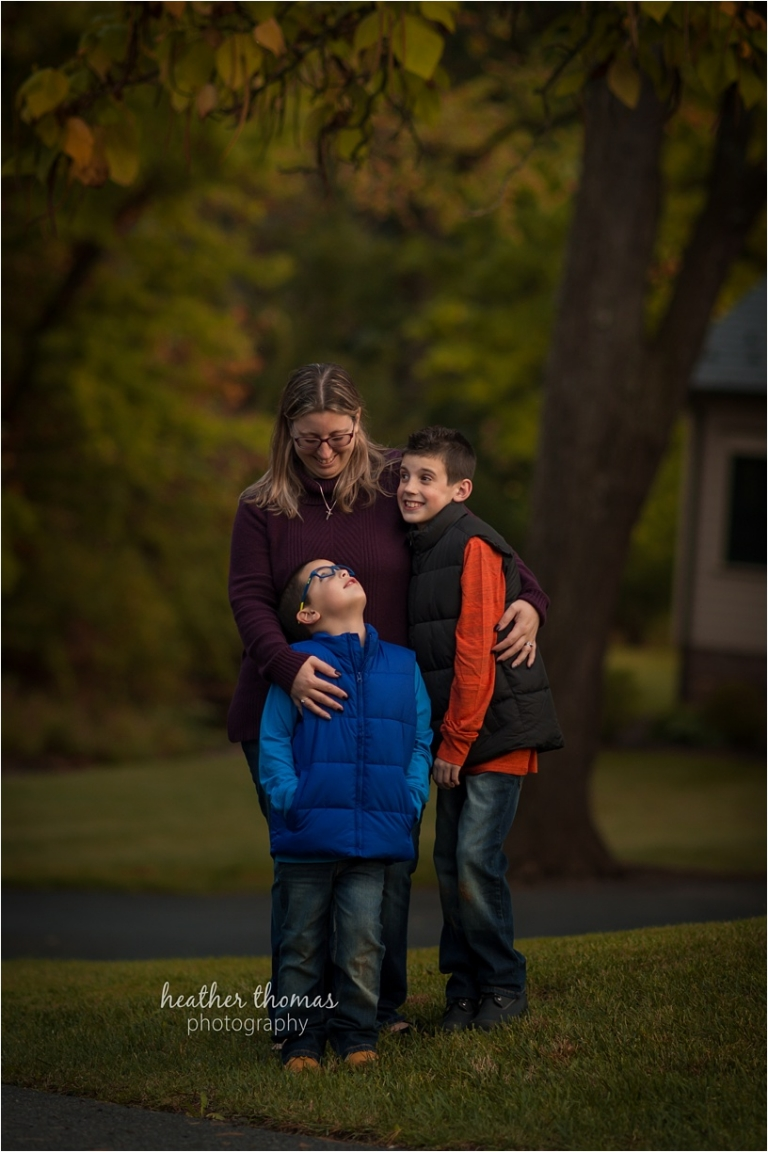 two young brothers in fall clothing at the park in newtown pa
