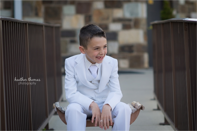 st andrews communion portraits in newtown pa with heather thomas photography