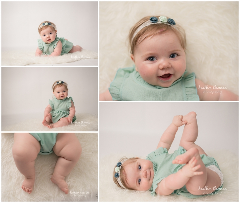 a 7 month old baby photo shoot with heather thomas photography in newtown pa