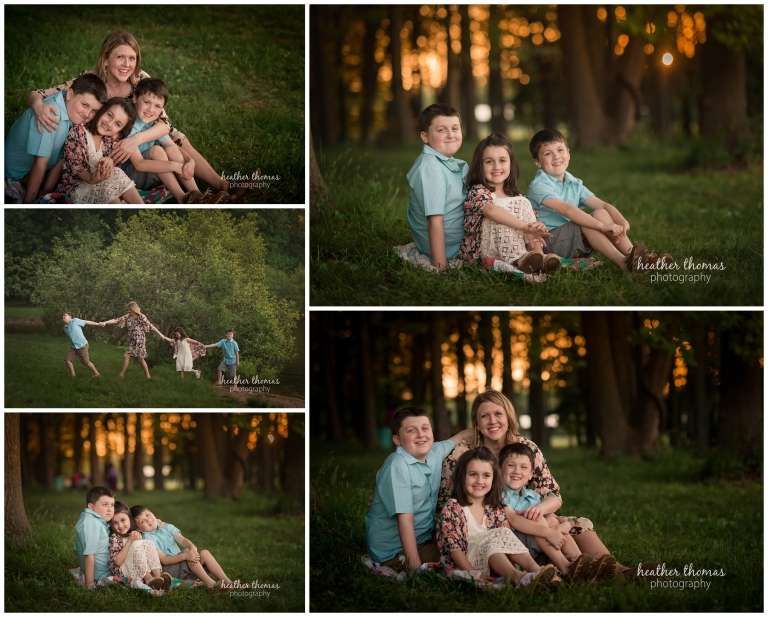 a photo of a mother and her three children at core creek park in langhorne pa