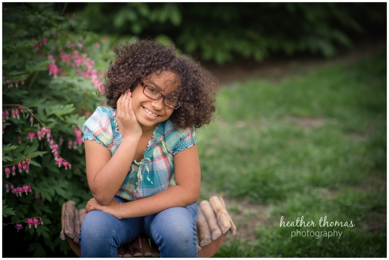 portraits of a mother and daughter at the azalea garden in philadelphia