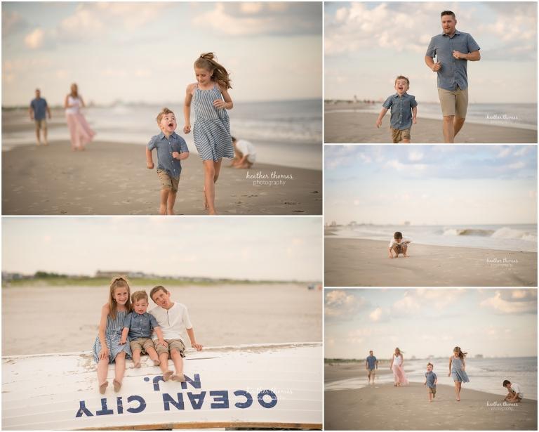 family photos on the beach ocean city nj