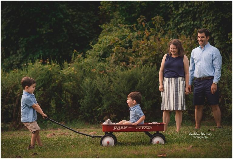 family photo in philadelphia field