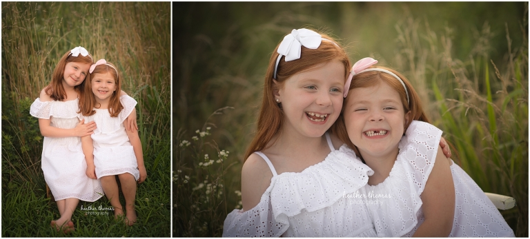 sister portraits in bucks county