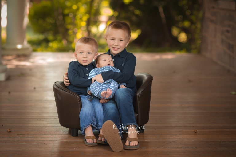 a picture of three boys at the heather thomas photography studio in Newtown bucks county pa