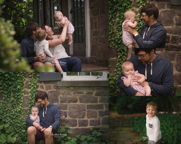 family portraits in philadelphia outside with heather thomas photography