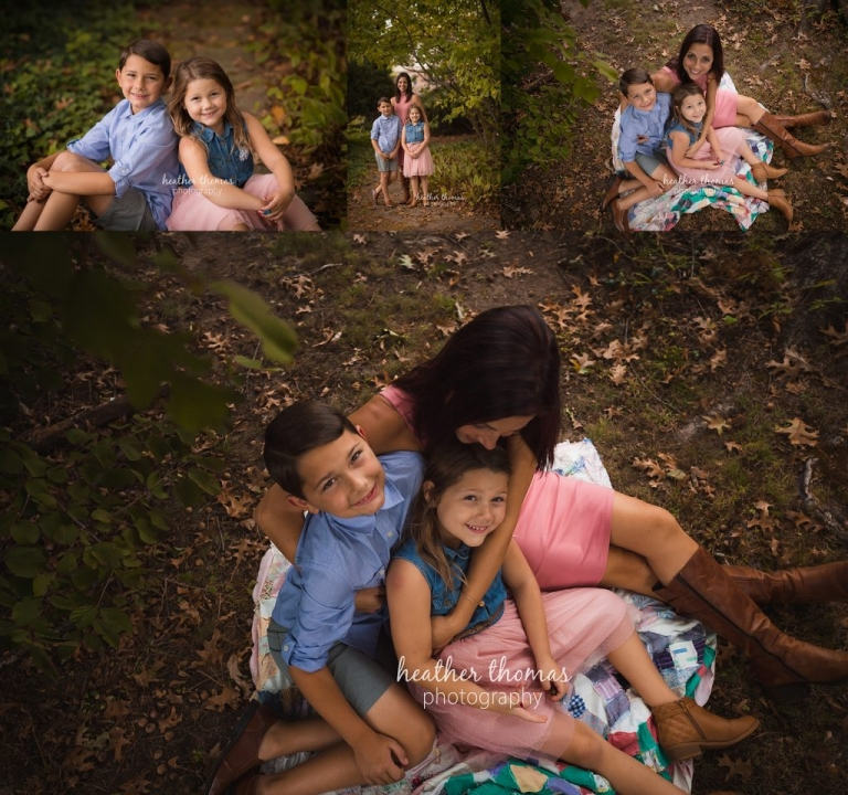 family photo session outside
