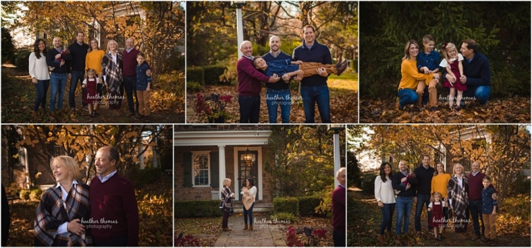 outdoor family portraits in the fall