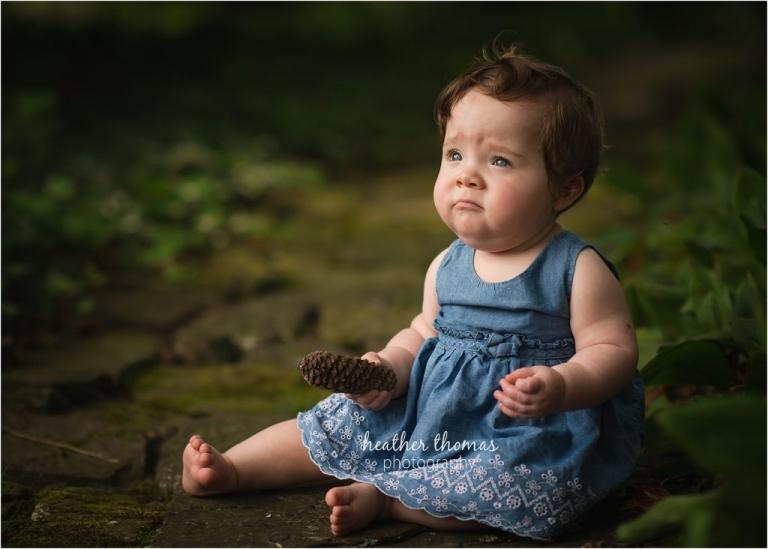 baby portrait outdoors bucks county