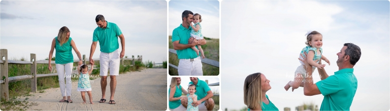 portraits of family of three in Ocean City NJ