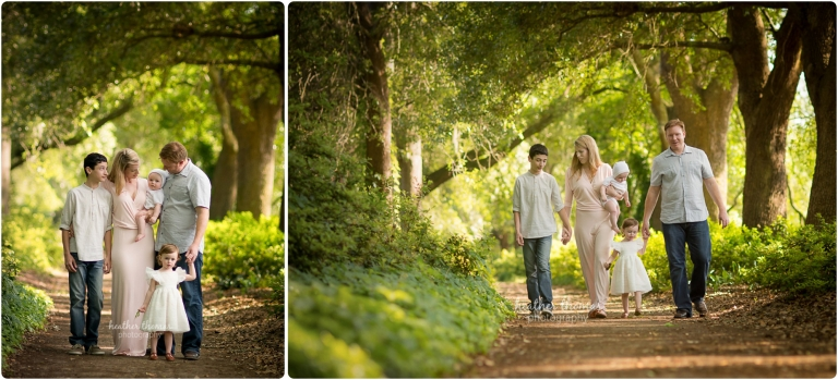 family walking in park photo by heather thomas photography