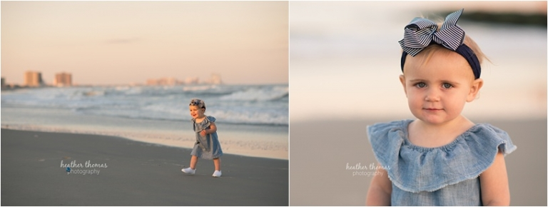first birthday portraits at the beach