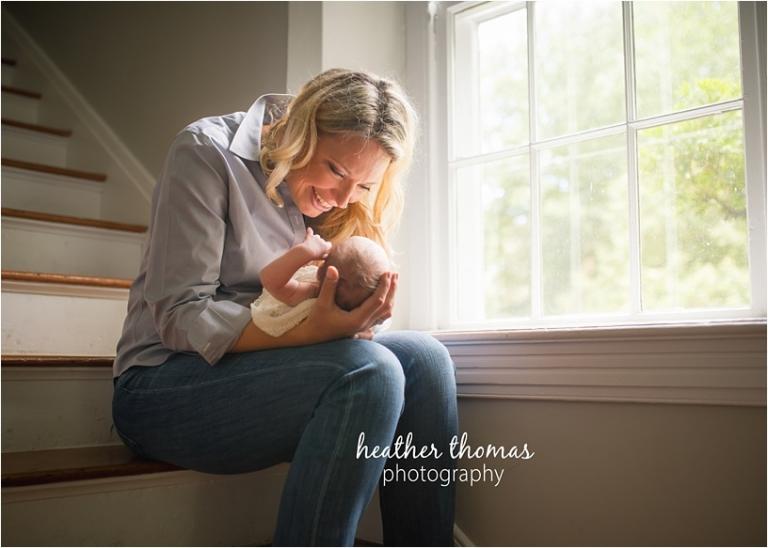newborn boy at the heather thomas photography studio in bucks county