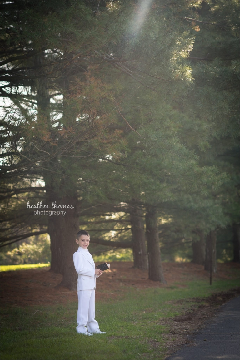 communion portraits in newtown pa with heather thomas photography