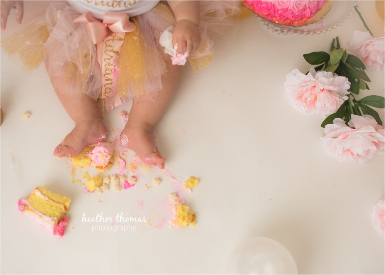 a cake smash photography session in bucks county pa