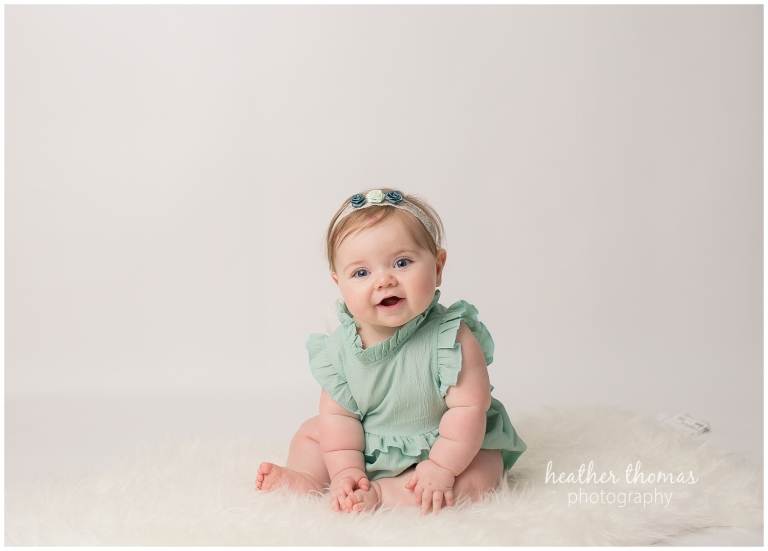 a 7 month old baby photo shoot in bucks county pa
