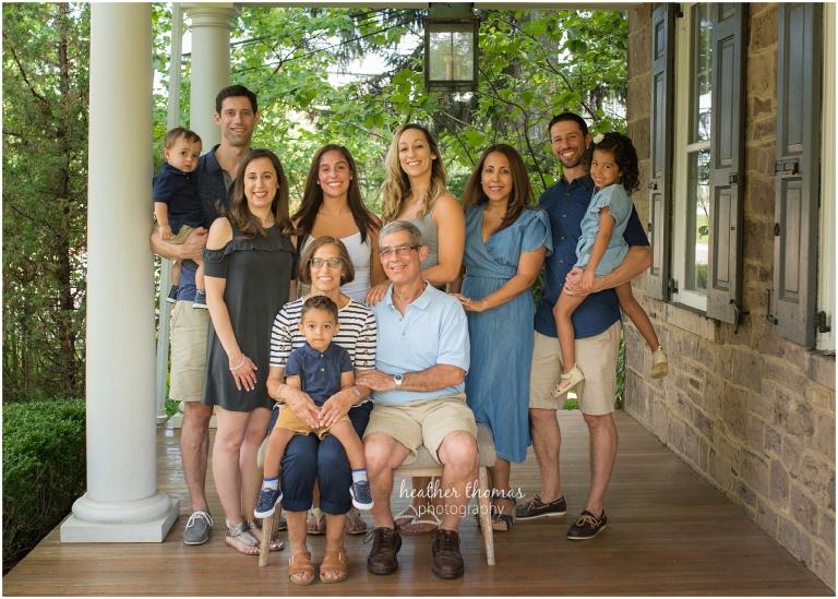 extended family photoshoot bucks county