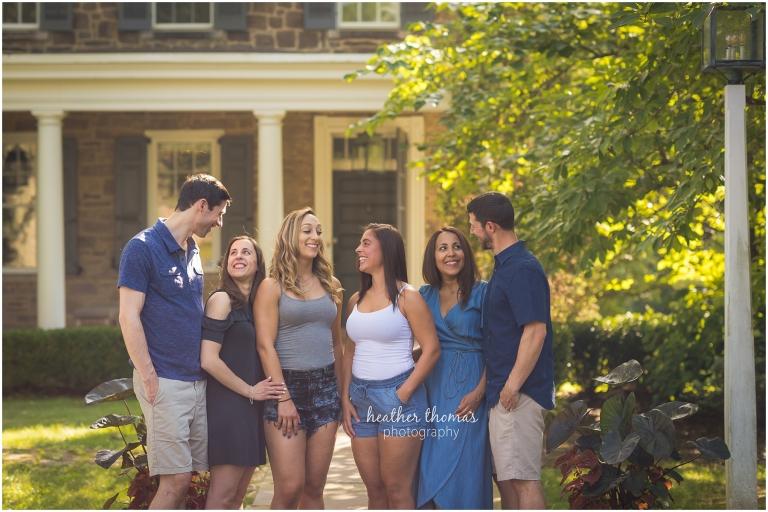 family portrait in bucks county pa