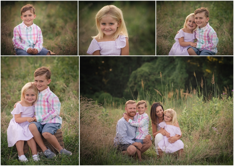 family portraits in a field in philadelphia with heather thomas photography