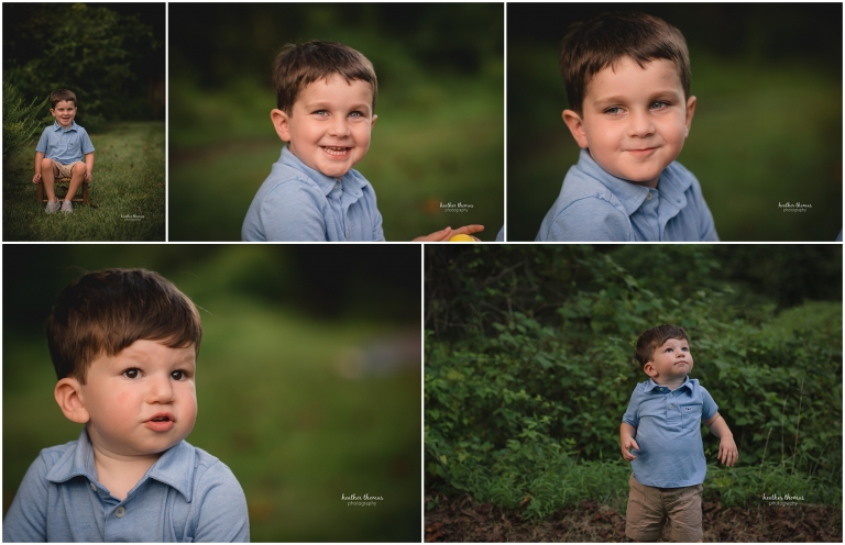 toddler portraits in a park