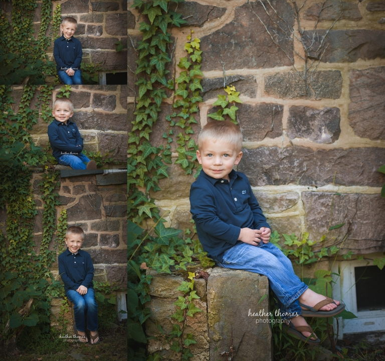 a picture of a boy at the heather thomas photography studio in Newtown bucks county pa