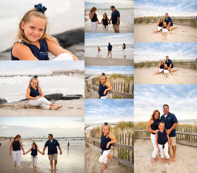 a family beach shoot in ocean city nj