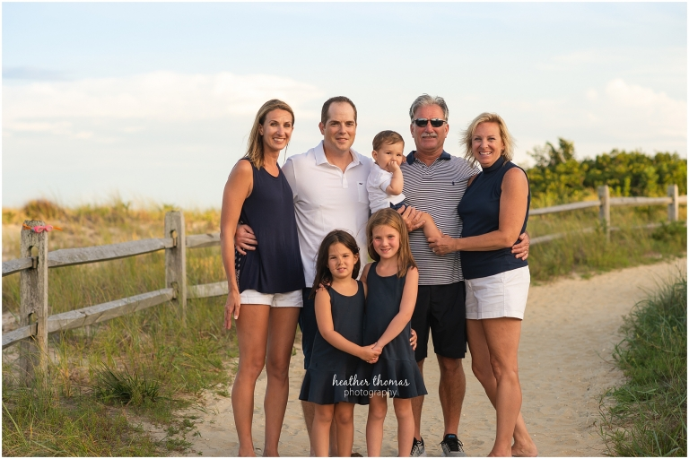 a picture of an extended family on the beach in ocean city for a photo shoot with Heather thomas photography8.jpg