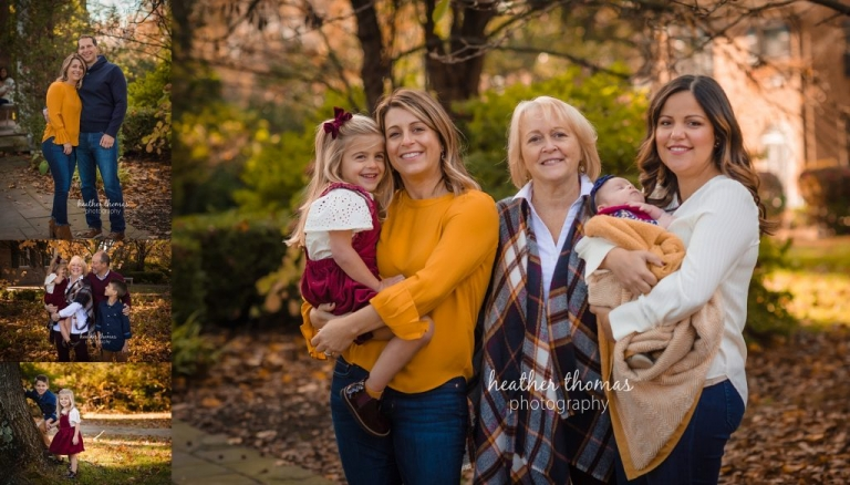 family portrait session in autumn