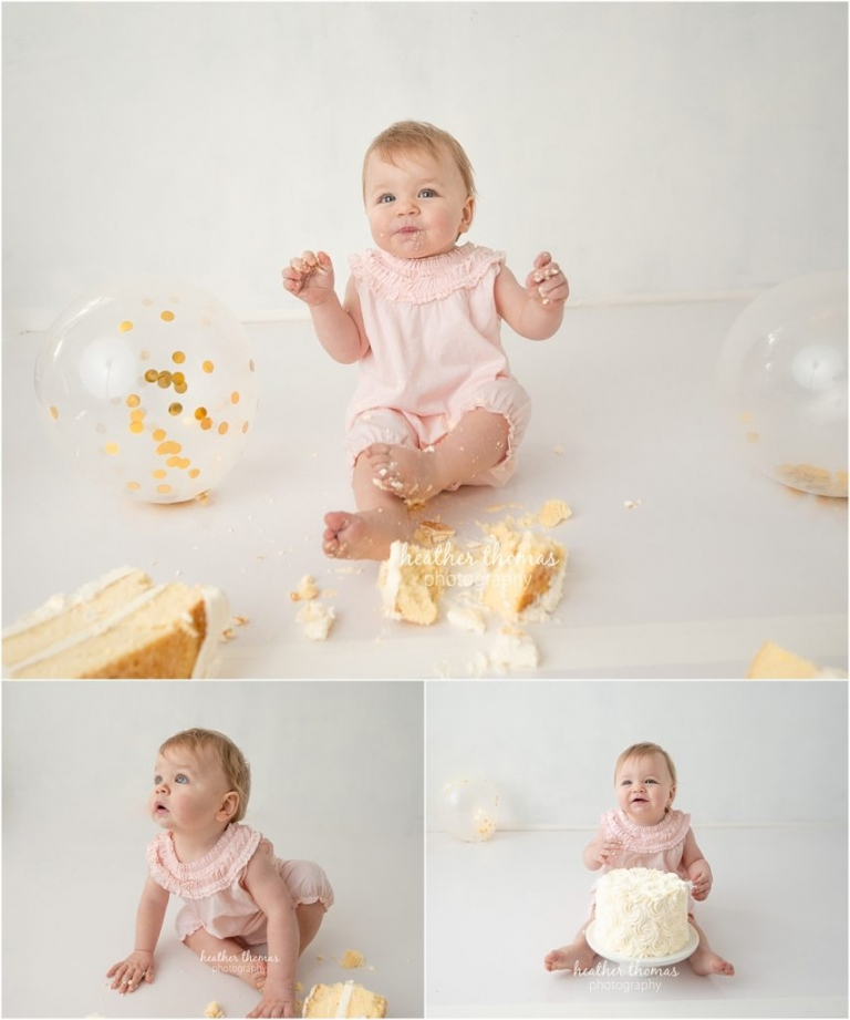 first birthday cake smash photos