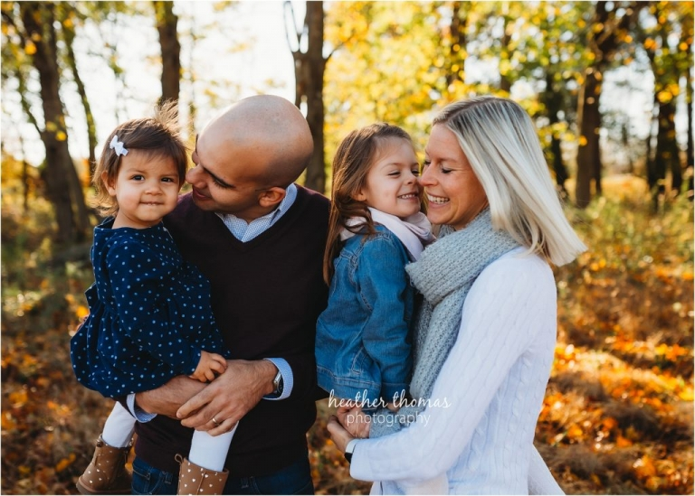family portrait session at home outdoors