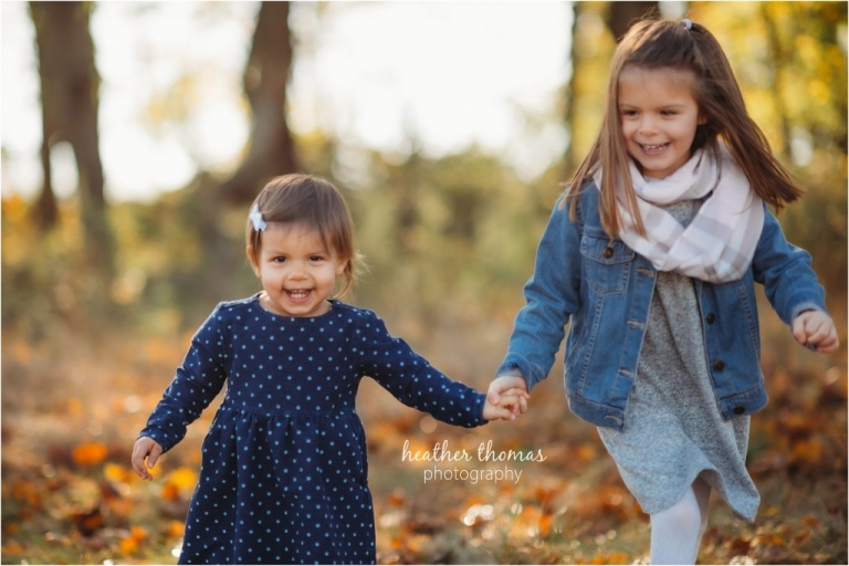 sisters portrait in the woods