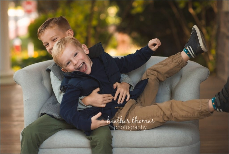 brothers portrait by heather thomas