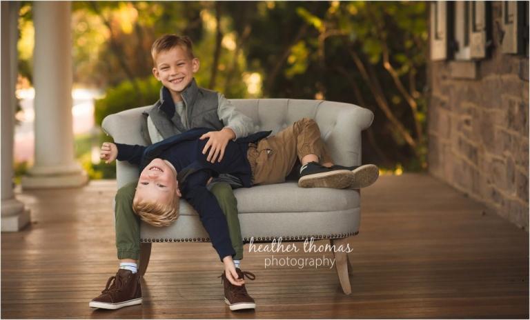 brothers fun portrait
